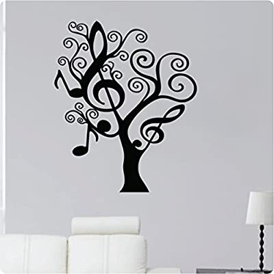 "28"" Music Note Tree Shape Treble Clef Mural Wall Decal Sticker Art Mural Home Décor Quote"
