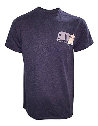 """""""Never RV Alone"""" Dog Themed Men's/Unisex T-shirt"""