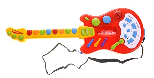 PowerTRC Electric Guitar Toy with Sound and Lights