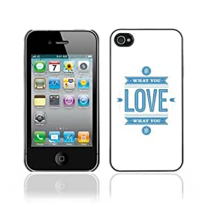Hard Case or Cover for iPhone 4/4S Do What You Love Message case for iphone glassover for iphone