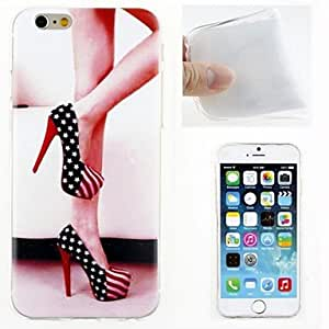 DD Legs and High Heels Pattern TPU Ultra Soft Case for iPhone 6 Plus