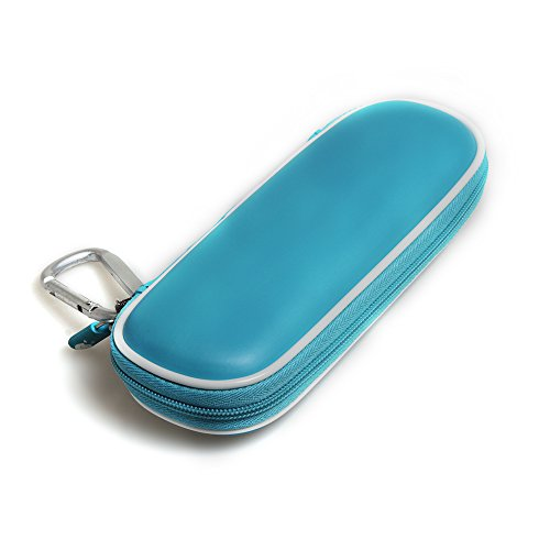 Hard EVA Protective Travel Case Carrying Blue for Schick Hydro Silk TrimStyle Moisturizing Razor Women Bikini Trimmer by Hermitshell