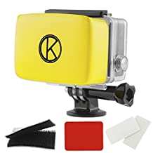 CamKix Floater for GoPro Hero - Removable Float for GoPro Housing Backdoor - Includes Waterproof Adhesive, High Quality Waterproof Velcro, 1 Pair of Anti-Fog Inserts - Compatible with GoPro Hero 4, 3+, 3, 2, 1 (Yellow)