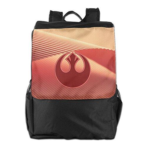 (Star Wars Rebel Alliance Symbol Applique Oxford Travel Backpack Shoulder Bags)