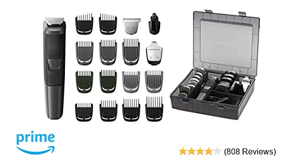 Philips Norelco Multi Groomer MG5760/40 - 18 piece, beard, body, face, nose, and ear hair trimmer and clipper w/storage case