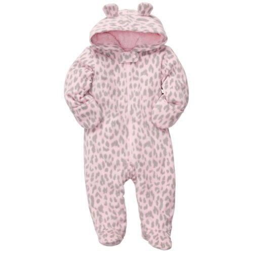 Carter's Baby Girls' Pram Fleece - Leopard Fleece - 6 Months - Leopard Baby Bunting