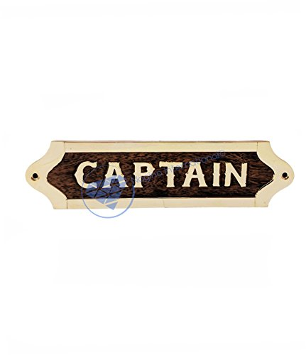 Captain's Maritime Nautical Wall Decor Name Plate | Wooden Handcrafted Plaque | Nagina International