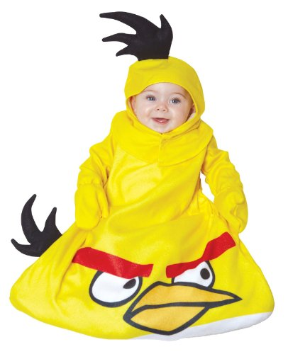 Toddler Angry Birds Yellow Bird Kids Costumes (Yellow Bird Bunting Baby Infant Costume - Newborn)