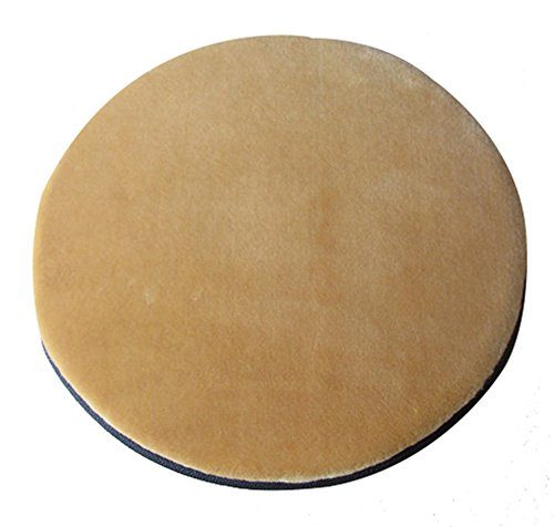 Sigmat Plush Round Bar Stool Pad Soft Chair Cushion with Buckle Light Camel 16