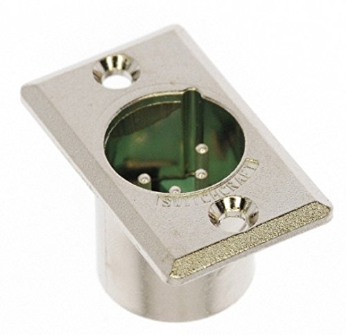 Switchcraft D4M 4-Pin Male XLR Panel Mount Plug, Nickel Finish ()