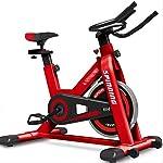 41JKDvDyKrL. SS150 LJMG Spin Bike Palestra Regolabile Fitness Bike Spinning Bike Silent Belt Drive Bike Studio Bicicletta Rotante Sport Indoor Bicicletta Cross Training Machine (Color : Red, Size : 116 * 53 * 102cm)