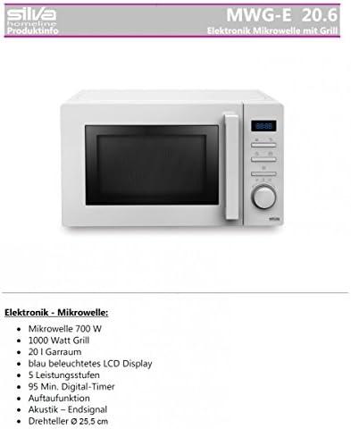 Silva Homeline MWG de E de 20,6micro-ondes/36cm/700W/20L/1000W/barbecue tournant Diamètre: 25,5cm