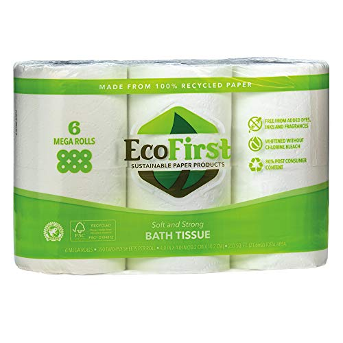 EcoFirst Recycled Toilet Paper, 24 Rolls (4 inches)