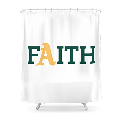 Society6 Oakland A's Faith Shower Curtain 71'' by 74'' by Society6