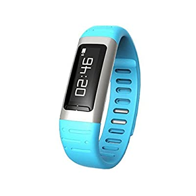 "Geekercity® 2015 Bluetooth 2.0 0.91"" OLED Smart Watch Wrist Digital Watches Sports Running Bracelet Smartphones Mate Partner Smartwatch Phone Wristband Wristwatch Fitness Health Passometer Step Walking Distance Calorie Counter Activity Tracker Altimeter T"