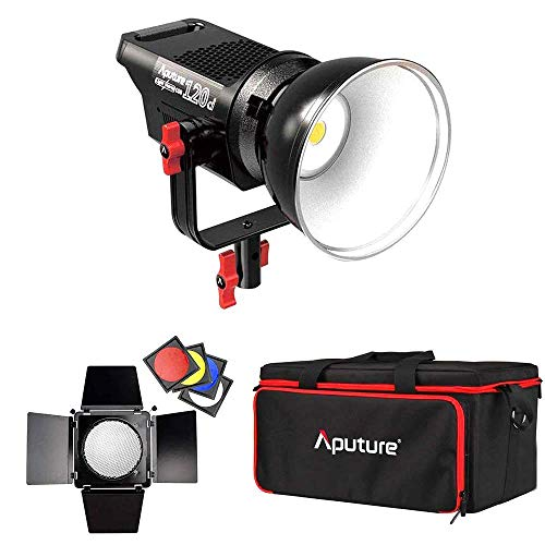 Continuous Power Supply - Aputure Lightstorm COB 120D 135W 6000K Daylight Balanced LED Continuous Video Light CRI96+ TLCI96+ 14000lux@0.5M Dual Power Supply 2.4G Remote Control with Barn Door Honeycomb Grid Color Filters