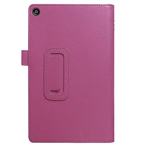 Kindle Fall, happytop Barco Flip Cover für Amazon Fire HD8, TPU 20,3cm 2fach Displayschutzfolie violett