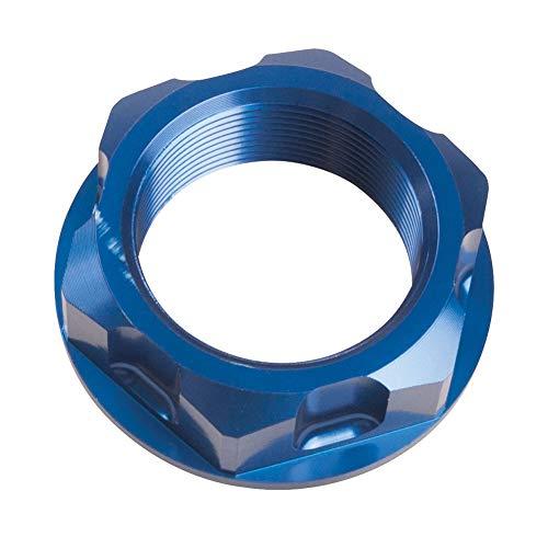 Tusk Billet Aluminum Steering Stem Nut Blue - Fits: Yamaha YZ250 1994-2019