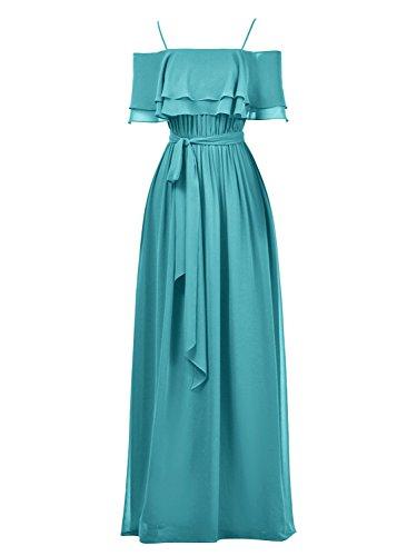 Party Formal Jade Straps Cdress Wedding Long Bridesmaid Dresses Gowns Chiffon Ruffles Pqx16w40