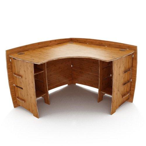 47 x 47 Corner Desk in Amber (Carbonized Amber Finish)