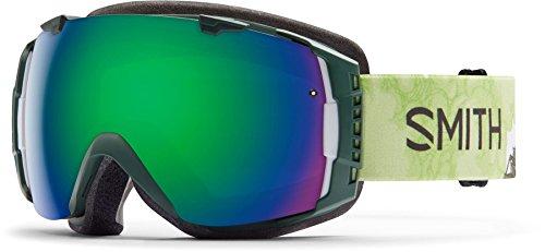 Smith Optics I/O Adult Interchangable Series Snocross Snowmobile Goggles Eyewear - Vagabond/Green Sol X Mirror / Medium -
