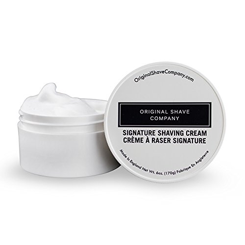 (Original Shave Company Shaving Cream For Men - Signature Shaving Cream by Original Shave Company - Skin Hydrating Formula Made To Build a Thick Lather Perfect For All Skin Types Including Sensitive Skin - Large 6oz.)