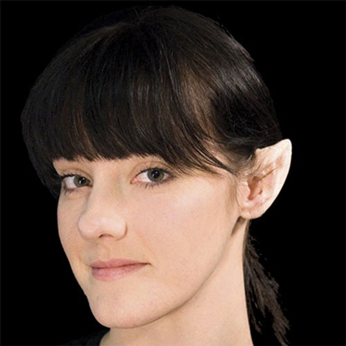 SMALL Latex Fairy Alien Vulcan Space Ear Tips With SPIRIT GUM Adhesive & Remover