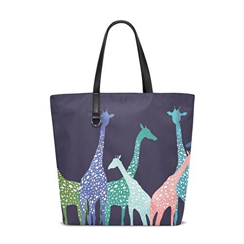 Shopping Tote TIZORAX Bag Bags Colorful Women Totes Giraffe for Tote Travel Handbag Beach pn4wzqpZ8