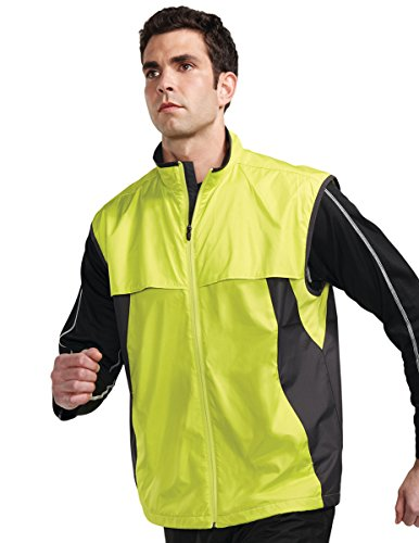 - Tri-Mountain Athlos Lightweight Windproof Vest, 3XL, LIME/CHARCOAL