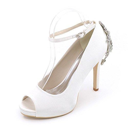 Talons Haut Disponibles Couleurs Mariage YC De Chaussures Chaussures MariéE De FêTe Gamme Pour De Femme Mariage Pour De Chaussures à Plus Blanc Et L Soir 8qzwB