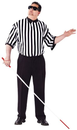 [Blind Referee EZ Guy Costume Costume - Plus Size - Chest Size 48-53] (Mens Referee Costumes)