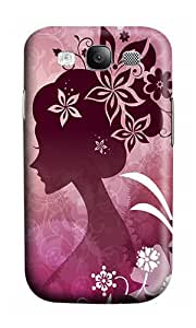 Samsung S3 Case,VUTTOO Cover With Photo: Woman With Flowers For Samsung Galaxy S3 I9300 - PC Hard Case