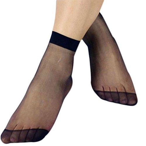 BaZhaHei-Calcetines Calcetines Socks by 10 Pares de señoras Calcetines Transparentes de Verano Medias Cortas Ultra Finas Sexy Calcetines de Mujer calcetín ...
