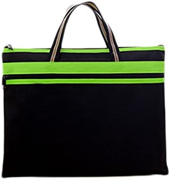 chytaii Tasche Aufbewahrungsbeutel für Dokumente Aktentasche tragbar Reißverschluss Wasserdicht Dick aus Oxford, Mehrfarbig 38x29cm schwarz