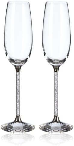 SWAROVSKI Crystalline Toasting Flutes Figurines, Set of 2