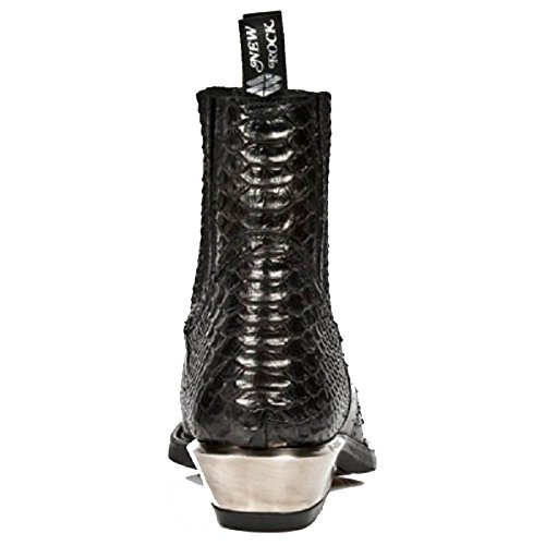 Stivali di cowboy neri di nuova caviglia nera con motivo nera
