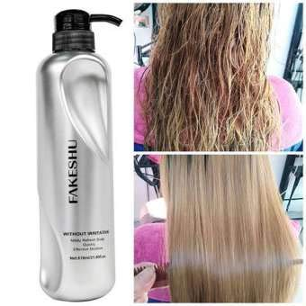 Fakeshu Keratin dry damaged hair repair Treatment Keratin Treatment 100% pure glass hair treatment for damaged hair. Net.wt.618 ml.
