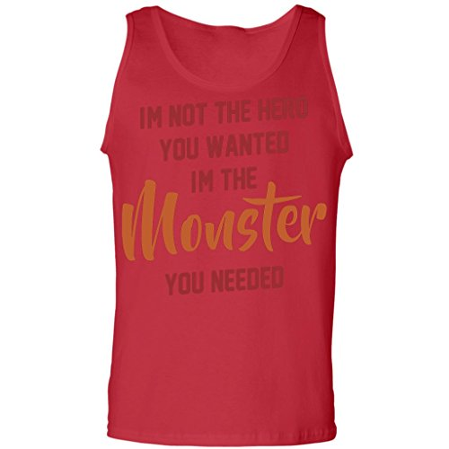 Workout Training I'M Not The Hero I'M The Monster - Funny Gymnast,Tank Top