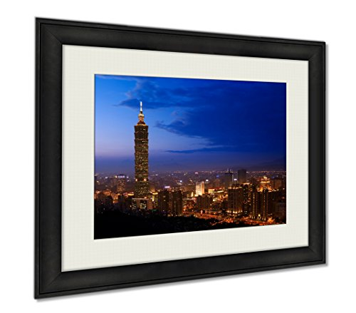 Ashley Framed Prints Golden Taipei 101, Wall Art Home Decoration, Color, 26x30 (frame size), AG5895532 by Ashley Framed Prints