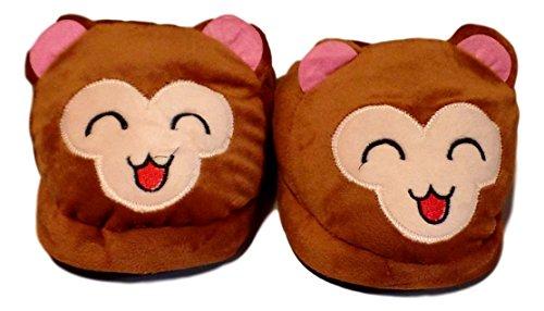 Pantofole Di Peluche Per Adulti Per Adulti Scimmia Peluche Deluxe - 4 Disegni Per Scimmia Che Ride