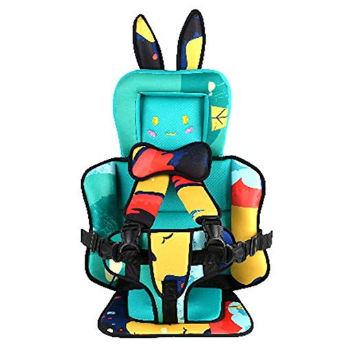 AMILIEe Child Baby car seat Protector, 2-in-1 Harness Booster Car Seat, Travel Car Seat, Fix High Back Booster for 9 Month-12 Years Old (Sky, Rabbit)