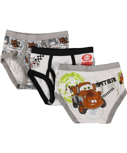 Disney Cars 3 Toddler Briefs 100% Cotton (2T3T)