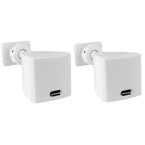 "Dayton Audio SAT3W 3"" Cube Speaker Pair (White)"