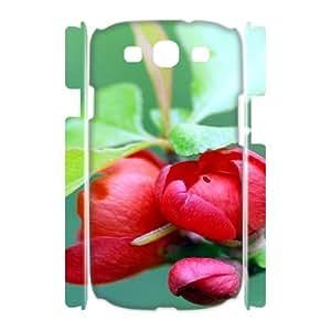3D Okaycosama Funny Samsung Galaxy S3 Case Plant 48 Protective Cute for Girls, Samsung Galaxy S3 Cases for Teen Girls, [White]