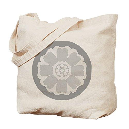 CafePress Tote Bag-Lotus-Borsa per piastrelle, colore: bianco