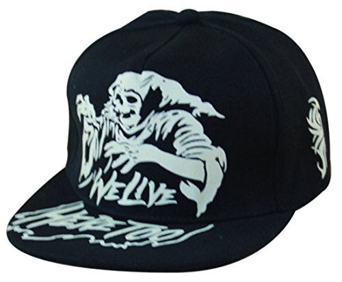 Thenice Halloween Hip-hop Baseball Cap Fluorescence Hat (Ghost)