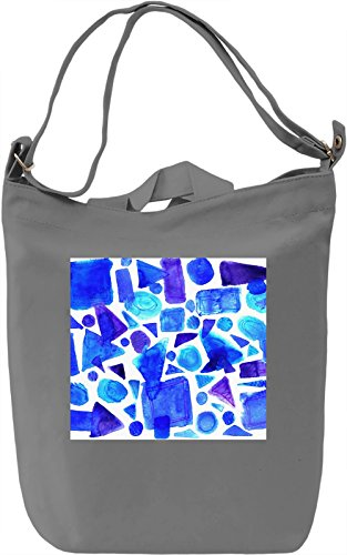 Blue Print Borsa Giornaliera Canvas Canvas Day Bag| 100% Premium Cotton Canvas| DTG Printing|