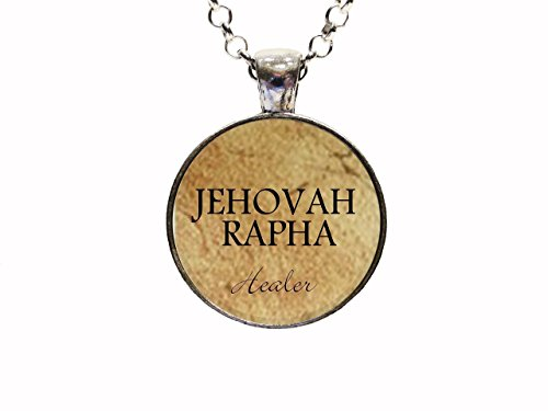 Digital Art Christian Jehovah Rapha Pendant Necklace Or Keychain