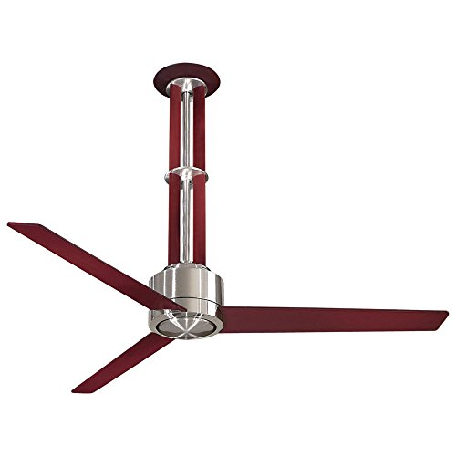 Minka-Aire F531-L-BN/MG Downrod Mount, 3 White Blades Ceiling fan with 67 watts light, Brushed Nickel/Mahogany