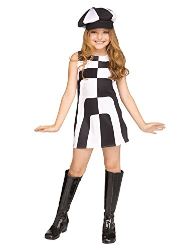 Fun World Mod 60's Girl Child Costume, Multicolor, Large